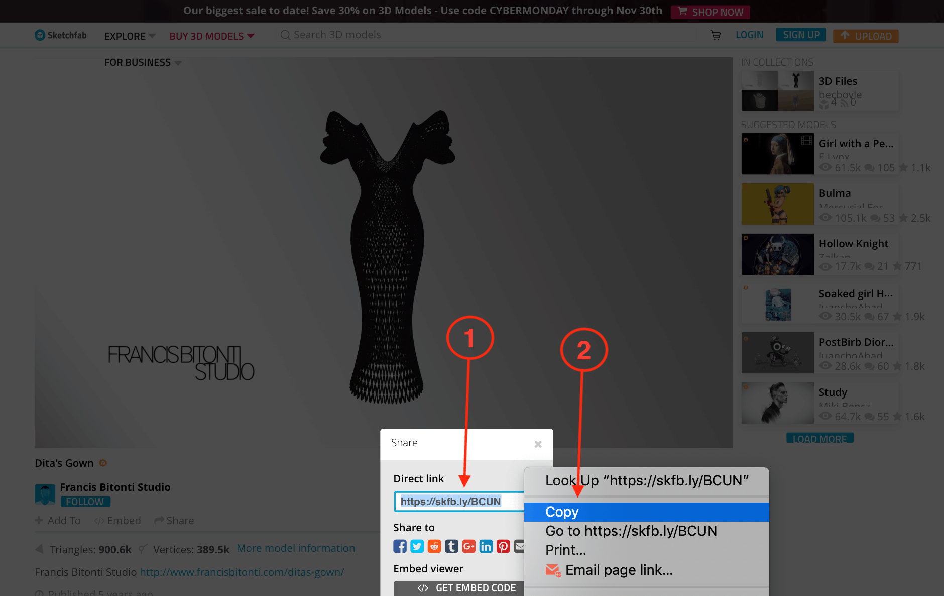 How to post your 3D models on Potion with Sketchfab | Potion