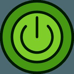 Icone bouton vert