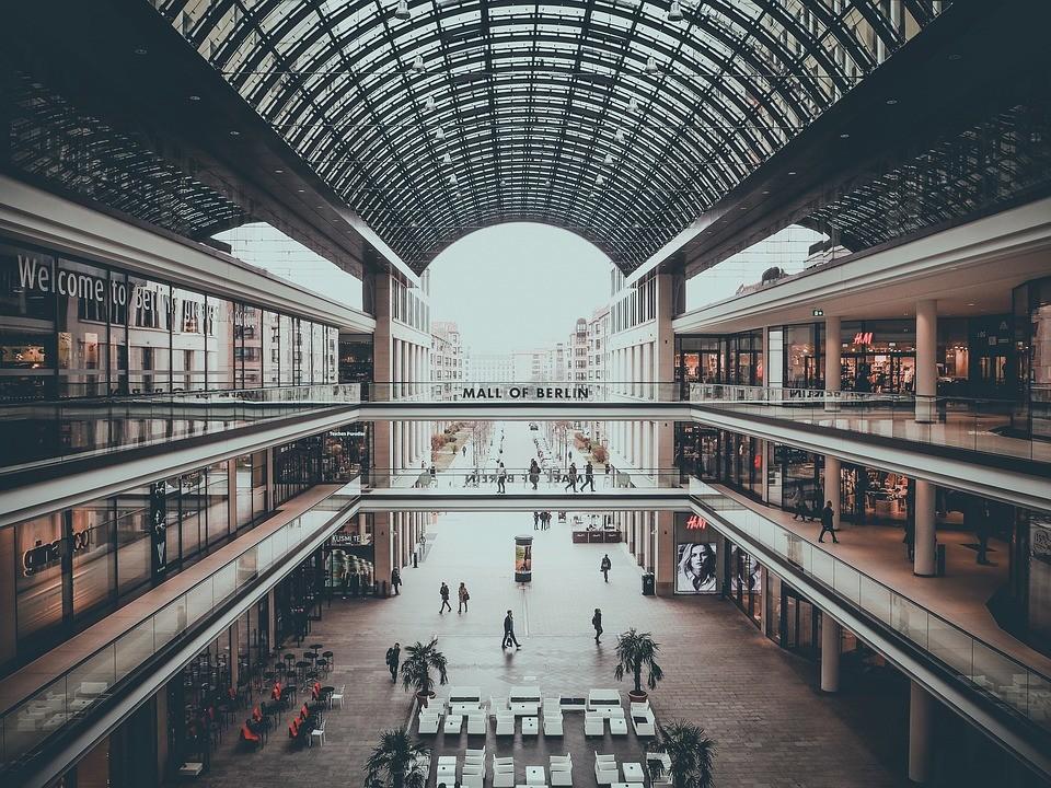 intérieur centre commercial Berlin