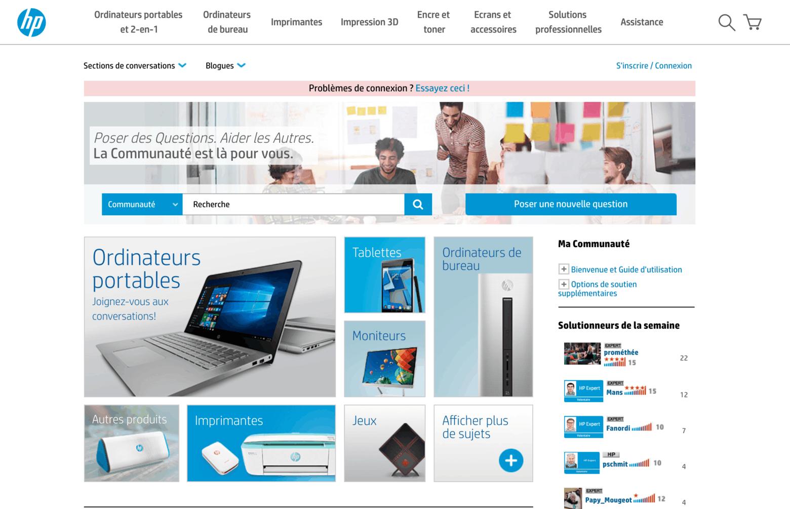 communauté Hewlett Packard
