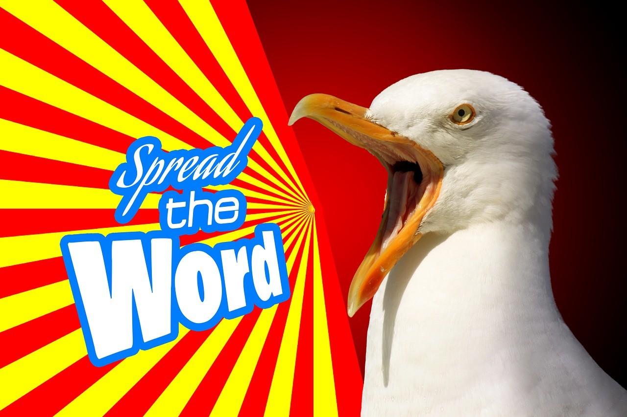 Marketing Publicité La Propagande oiseau spread the world