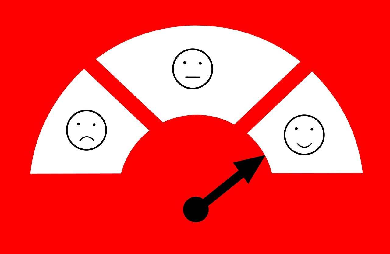 curseur émotions positive neutre négative commentaires satisfaction