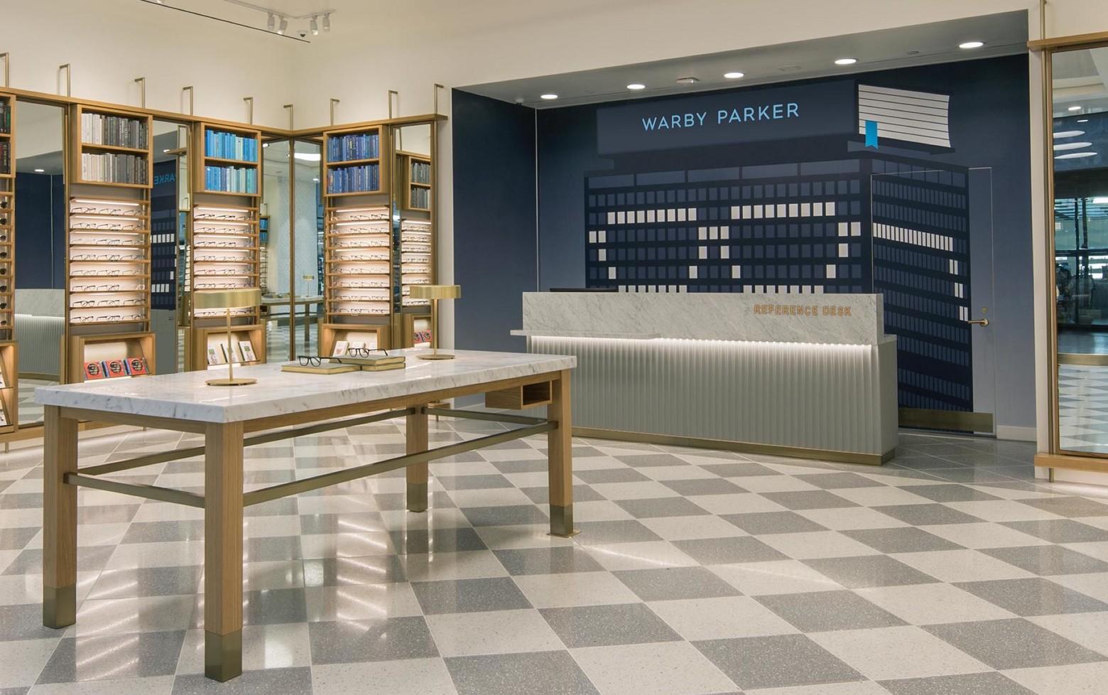 intérieur magasin Warby Parker Potion Social
