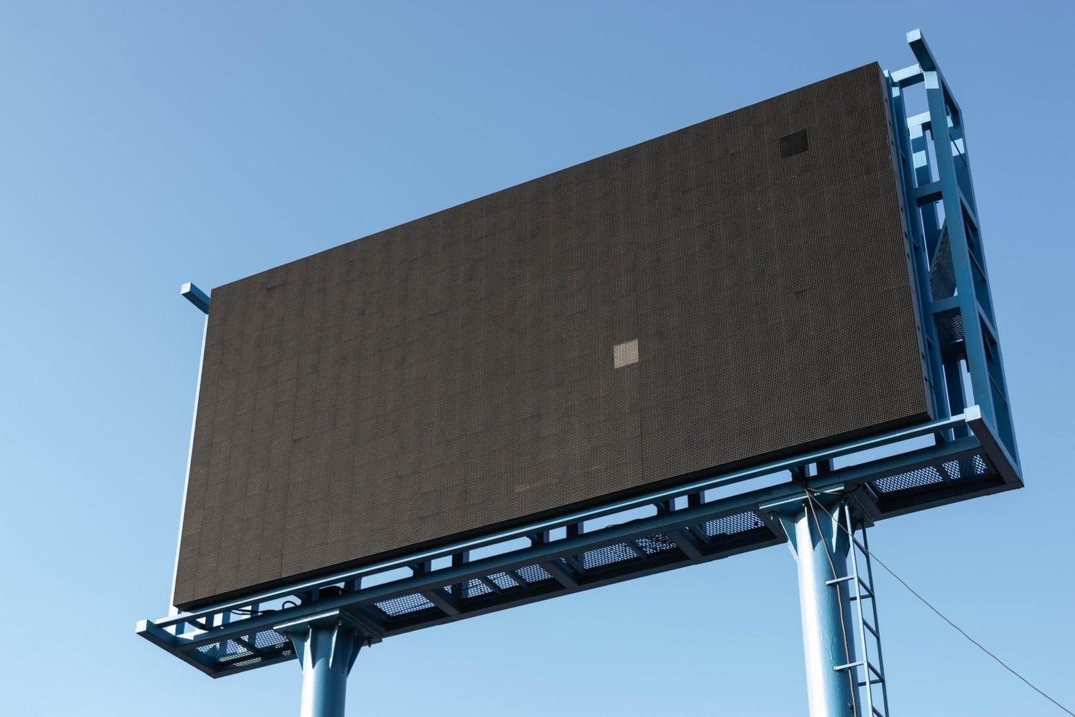 panneau d'affichage publicitaire hors ligne