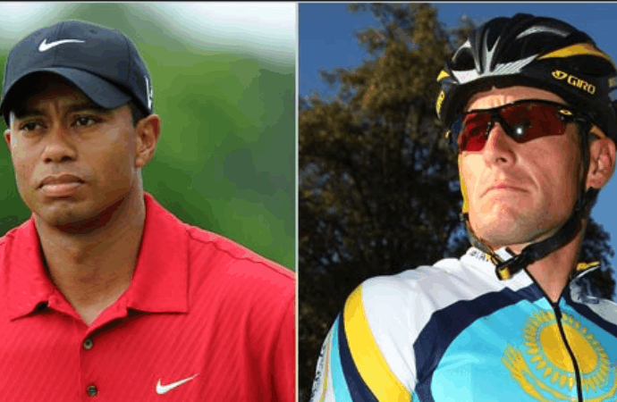 Photo Tiger Woods et Lance Armstrong